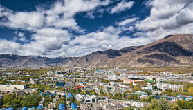 Lhasa tibet chinaa. Mountains during a day Stock Image
