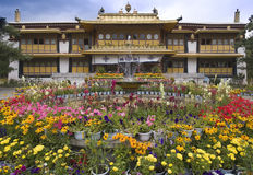 Lhasa - Tibet - Summer Palace of the Dali Lama. The Summer Palace of the Dali Lama in the Norbulingka in Lhasa - Tibet royalty free stock image