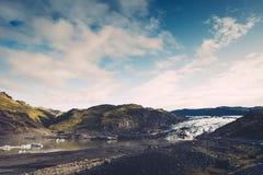 Lheimajökull Gletsjer Sà ³ in IJsland Royalty-vrije Stock Afbeeldingen