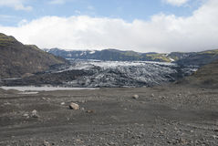 Lheimajökull de ³ de l'Islande Sà Photo stock