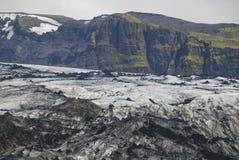 Lheimajökull de ³ de l'Islande Sà Photo libre de droits