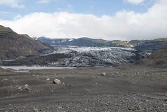 Lheimajökull del ³ de Islandia Sà Foto de archivo