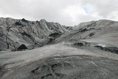 Lheimajökull del ³ de Islandia Sà Imagenes de archivo