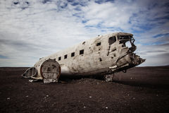 Lheimasandur συντρίμμια αεροπλάνων SÃ ³ Στοκ φωτογραφία με δικαίωμα ελεύθερης χρήσης