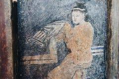 Lhong 1919, 100 år vägg- målning på väggen Arkivfoton