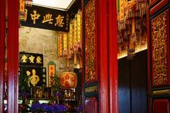 Lhong 1919年,祈祷的室内部  库存图片