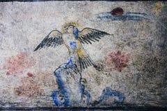 Lhong 1919, 100 anni di pittura murala sulla parete Immagine Stock