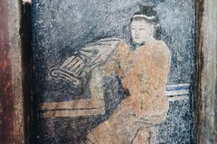 Lhong 1919, 100 anni di pittura murala sulla parete Fotografie Stock