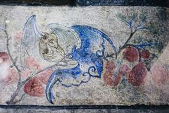 Lhong 1919, 100 anos de pintura mural na parede Imagens de Stock