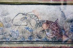 Lhong 1919, 100 ans de peinture murale sur le mur Photos stock