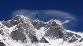 Lhotse 8516 m. Royalty Free Stock Image