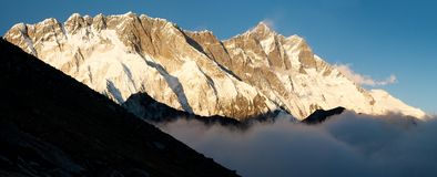 Lhotse and Nuptse Royalty Free Stock Images