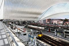 Liège Guillemins Railway Station Stock Image