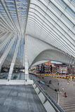 Liège-Guillemins火车站,比利时 免版税库存照片