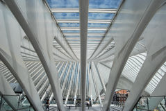 Liège-Guillemins σιδηροδρομικός σταθμός, Βέλγιο Στοκ Εικόνες