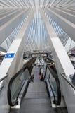 Liège-Guillemins σιδηροδρομικός σταθμός, Βέλγιο Στοκ Φωτογραφία