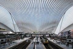 Liège-Guillemins järnvägsstation, Belgien Arkivbild