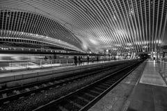 Liège - Guillemins station Arkivbild