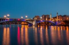 Liège, Pont de Fragnée Στοκ φωτογραφία με δικαίωμα ελεύθερης χρήσης