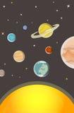 Lição da astronomia: Sistema solar Imagem de Stock
