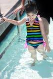 Lição da nadada Fotografia de Stock