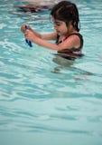 Lição da nadada Fotografia de Stock Royalty Free