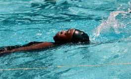 Lição da natação fotografia de stock royalty free