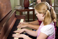 Lição de piano Foto de Stock