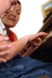 Lição de piano Fotografia de Stock