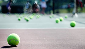 Lição de tênis Imagem de Stock Royalty Free