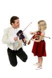Lição de violino Fotografia de Stock Royalty Free