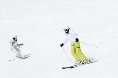 Lição do esqui Imagens de Stock Royalty Free