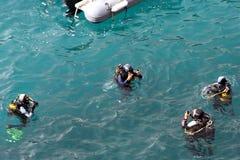 Lição do mergulho Fotos de Stock