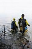 Lição do mergulho imagens de stock royalty free