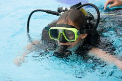 Lição do mergulho Fotos de Stock Royalty Free