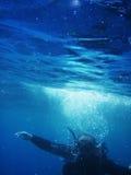 Lição do mergulho imagens de stock