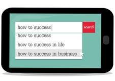 Lição do negócio sobre o sucesso ilustração stock