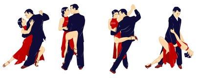 A lição do tango - isolada Imagem de Stock Royalty Free