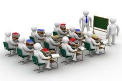 Lição em uma classe de escola. Foto de Stock