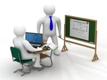 Lição em uma classe de escola Imagens de Stock