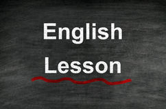 Lição inglesa Fotos de Stock Royalty Free
