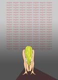 Lição: Pesar. Cartaz da tipografia Fotografia de Stock Royalty Free
