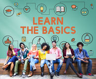 Lição que aprende o conceito da educação do conhecimento da instrução imagem de stock royalty free