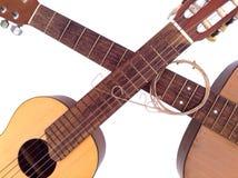 Lições da guitarra acústica Foto de Stock Royalty Free
