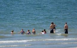 Lições da natação fotografia de stock