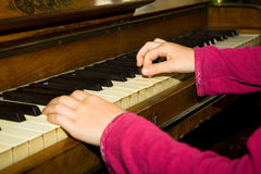 Lições de piano Imagens de Stock Royalty Free