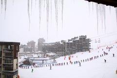 Lições do esqui Fotos de Stock