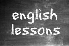 Lições inglesas imagens de stock