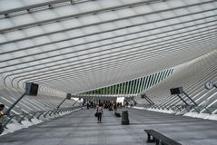 Liège-Guillemins railway station,Belgium Royalty Free Stock Photography