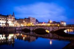 Liège la nuit Image libre de droits